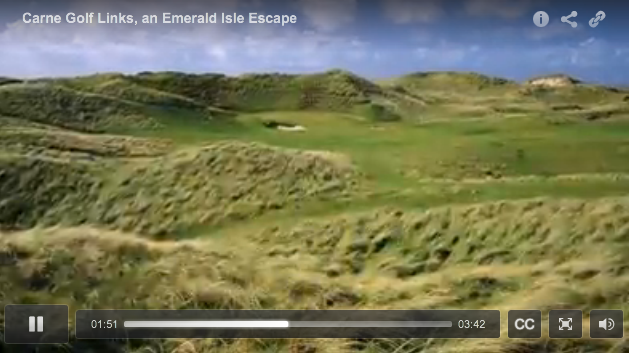 Video of the stunning Carne Golf Links